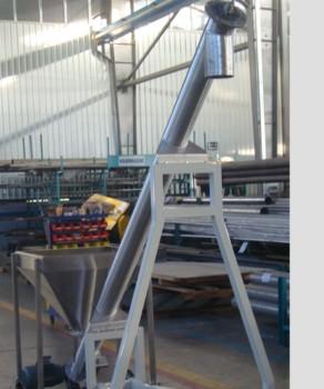 Wheels Food Grain Screw Conveyor