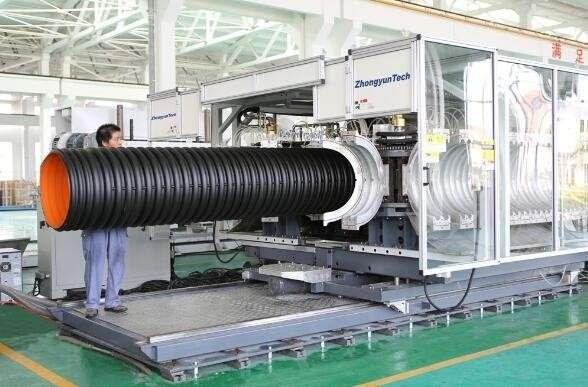 双壁波纹管高速生产线