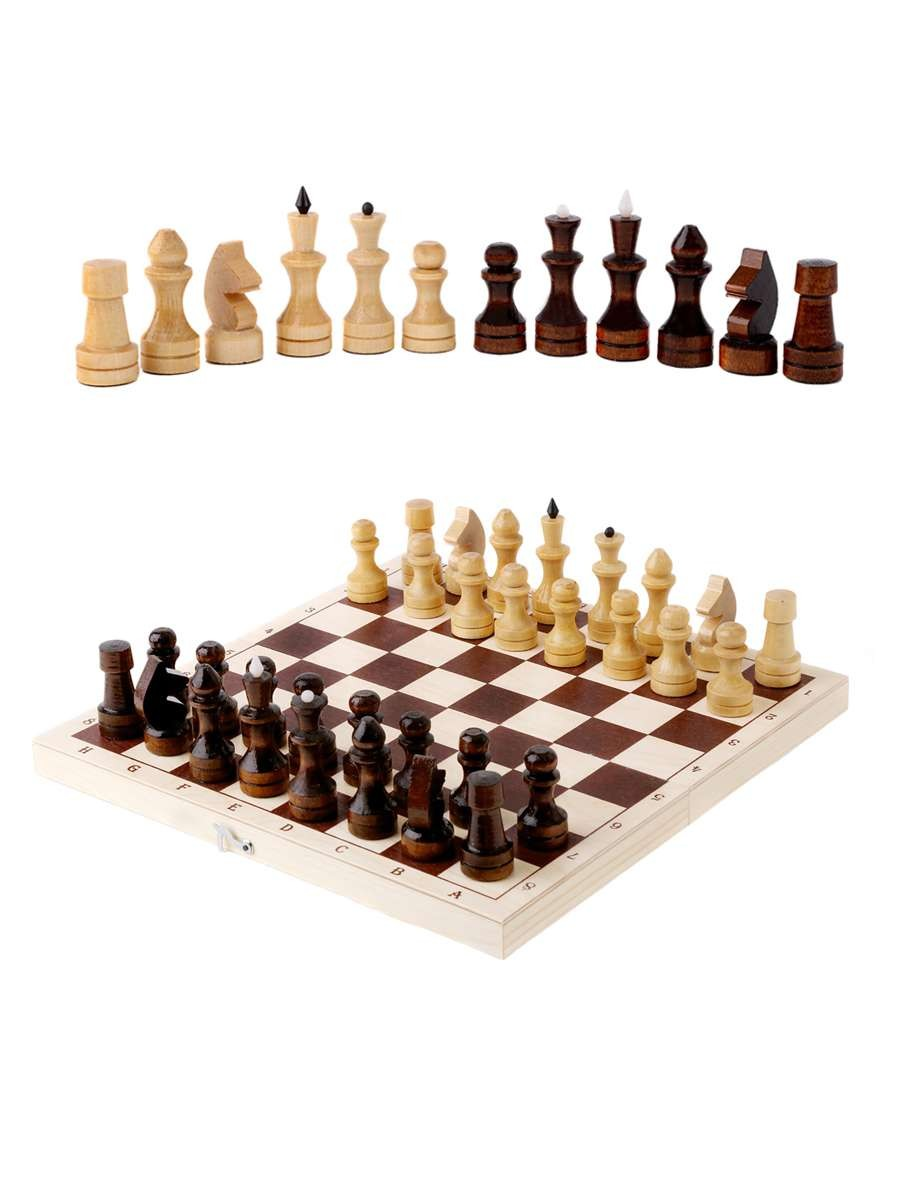 Classic Varnished Chess With A Board 290*145*38(mm)
