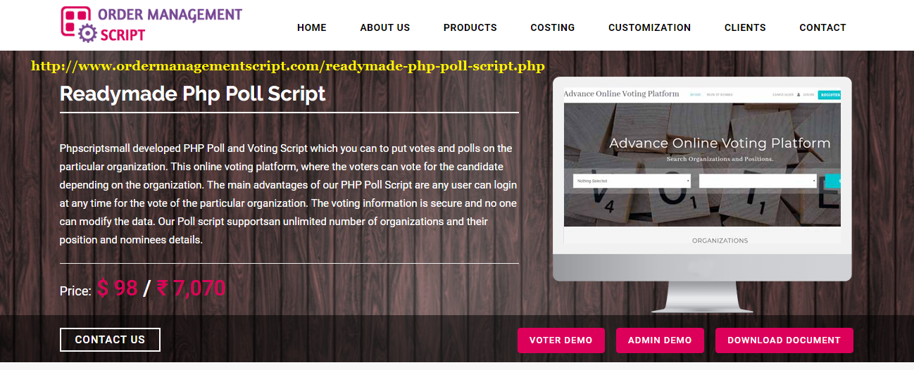 Online Poll and Voting Script