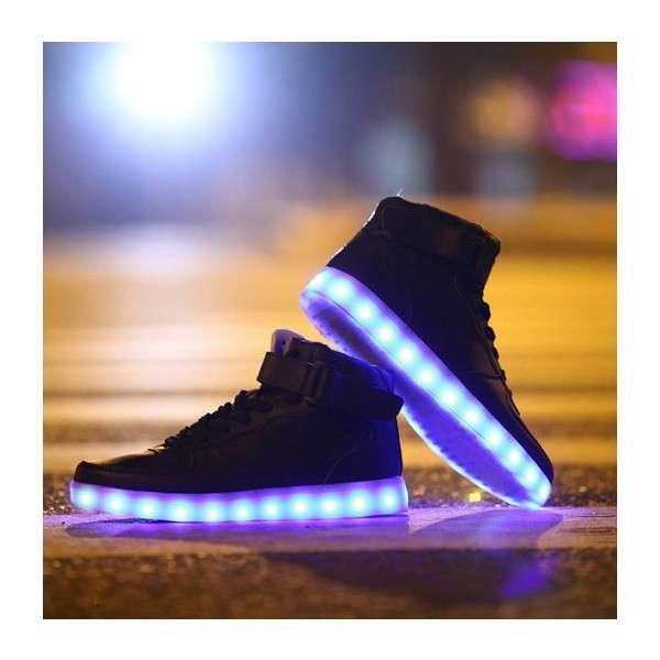 Led Light On Shoes Led Shoes Rubber Sole Led Flashing Running Shoes