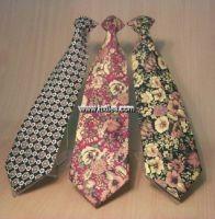 Silk printed ties