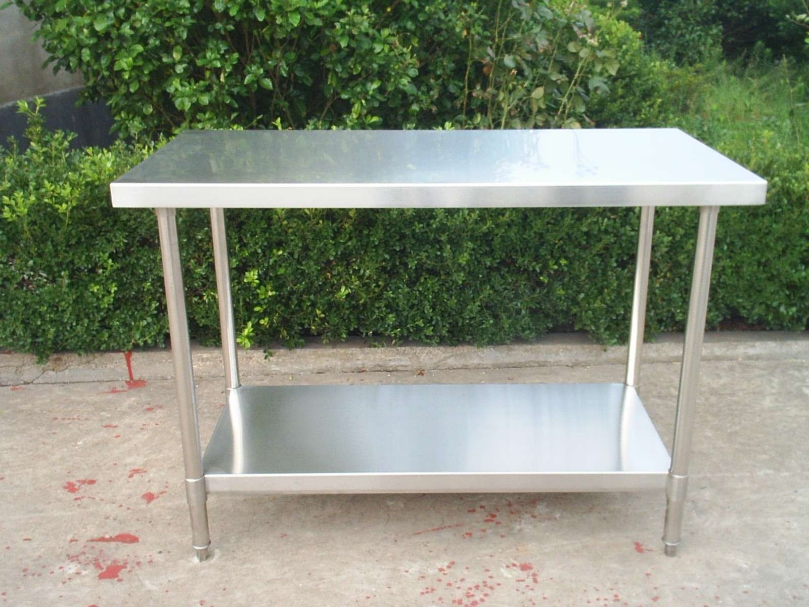 Customer-designed Stainless Steel Worktable without Backsplash, meet with NSF standard