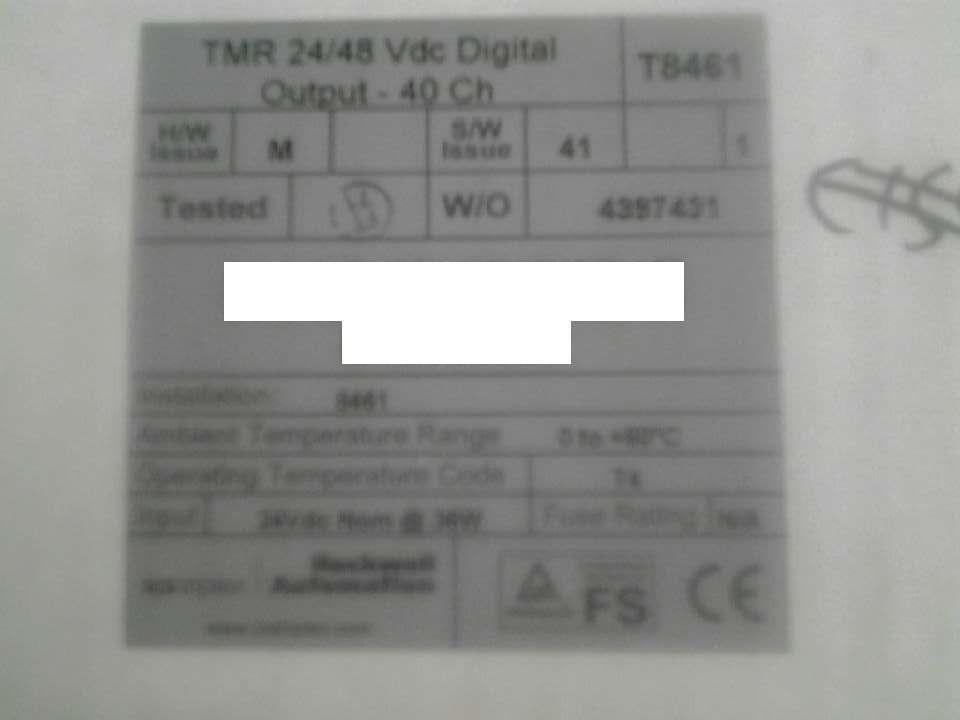 Digital Output Module ICS Triplex T8461 T8461C Plantguard P8461