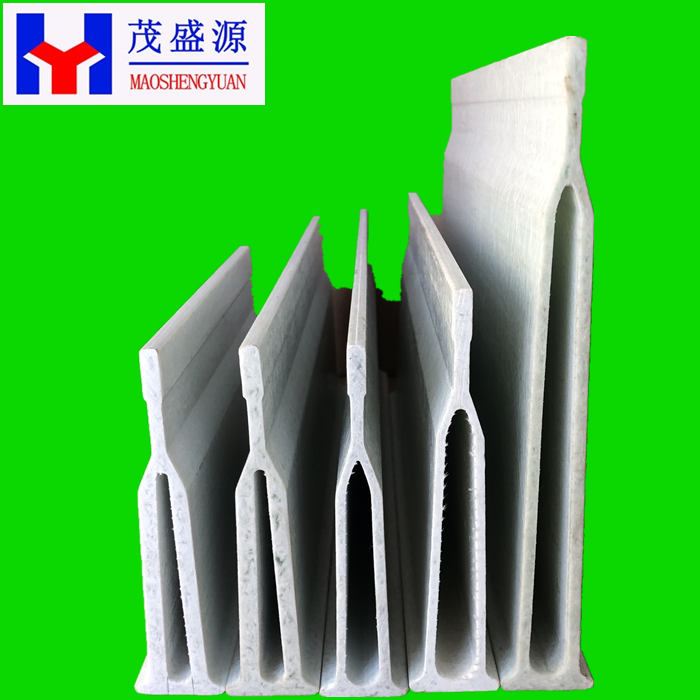 Low Weight And High  Strength  Pultrusion Fiberglass FRP Flooring Support Hollow Beam