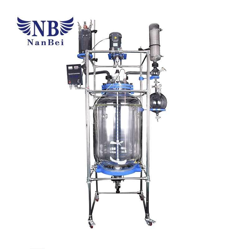 200L中国夹套玻璃反应釜,化学实验室反应器价格与CE
