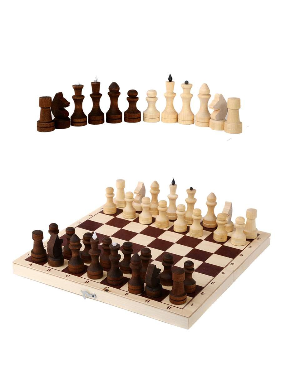 Classic Paraffined Chess With A Board 290*145*38(mm)